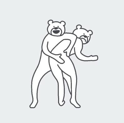 takadabear搓腚舞动图表情包无水印版