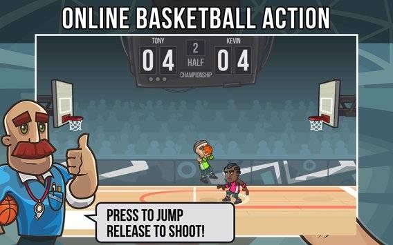 篮球玩家真实对战的游戏截图 1