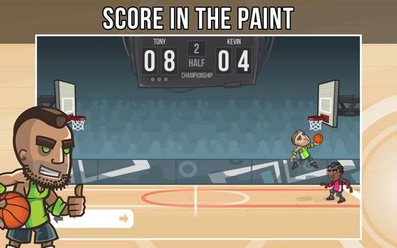 篮球玩家真实对战的游戏截图 2