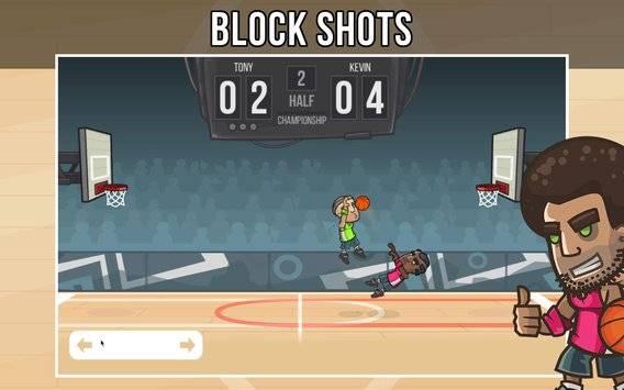 篮球玩家真实对战的游戏截图 3