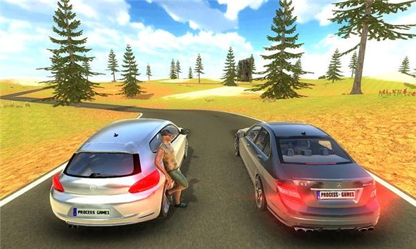 奔驰C63漂移模拟的游戏截图 4