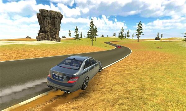 奔驰C63漂移模拟的游戏截图 6