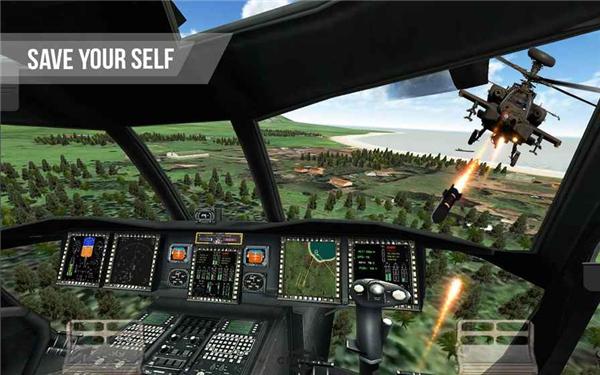 武装直升机战场模拟的游戏截图 2