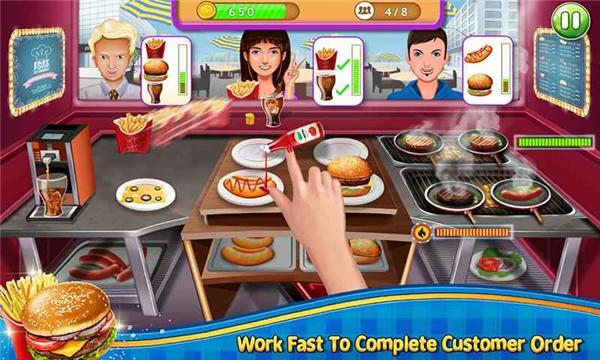 疯狂的汉堡的游戏截图 4