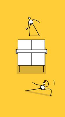 小人乒乓球的游戏截图 2