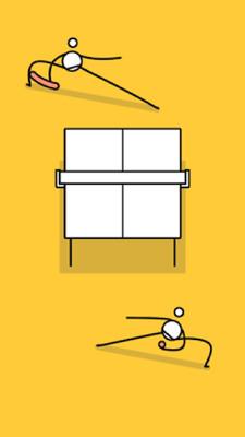 小人乒乓球的游戏截图 4
