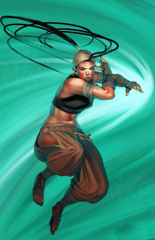 美国艺术家创作格斗游戏女性角色新插画 原画
