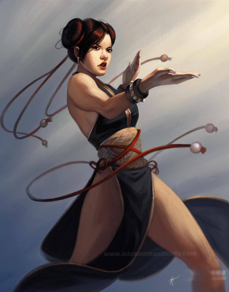美国艺术家创作格斗游戏女性角色新插画