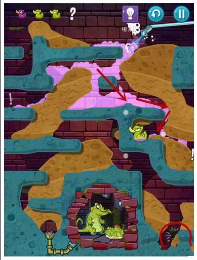 《鳄鱼小顽皮爱洗澡2》攻略14关卡图文_攻略秘籍塔碰爬攻略图片