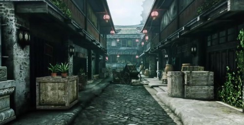 欧美小巷风景意境图片