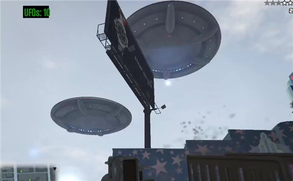 《GTA5》UFO Mod实机演示 《星球大战》即视感!
