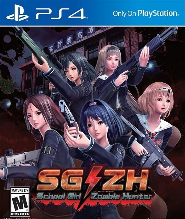 《校园女生僵尸猎人》PS4版封面画公布 暴衣女孩和僵尸恶斗
