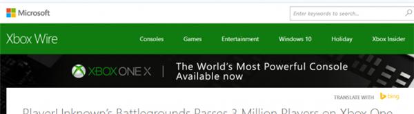 《绝地求生》Xbox版玩家破300万 无外挂痛快吃鸡