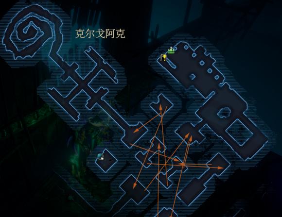 暗影觉醒克尔戈阿克怎么走? 克尔戈阿克路线图一览