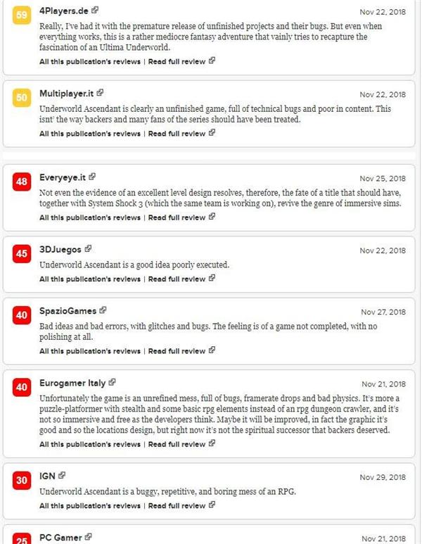 《地下世界:崛起》IGN 3.0分 漏洞百出的混�yRPG